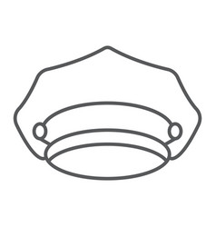 Police hat thin line icon police and uniform cap vector