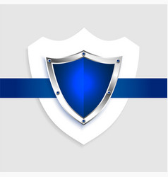protection shield empty blue symbol background vector image