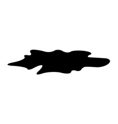 Puddle silhouette black substance spill stain vector