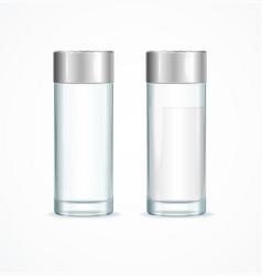 realistic detailed 3d salt shakers set vector image
