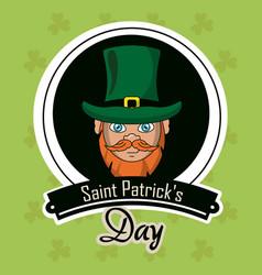 saint patricks days cartoons card vector image