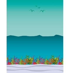 Seabed landscape isolated icon vector