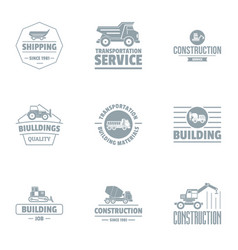 serv logo set simple style vector image