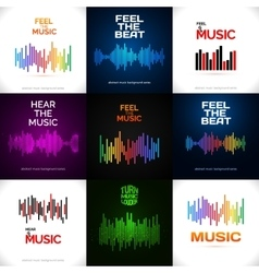Set of different equalizer icons vector image
