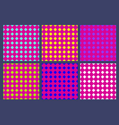 Set seamless pattern with rhombus in style vector