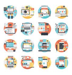 Set web design and development vector