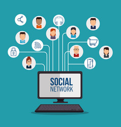 social network concept communication device vector image