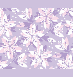 spring floral seamless pattern vector image