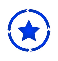 star turn icon vector image