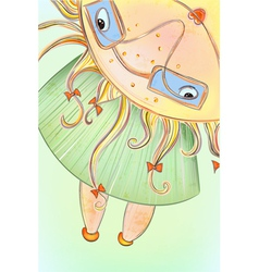 Sunny Summer Girl vector image