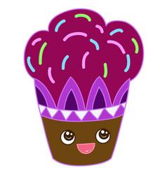 sweet cupcake design vector image