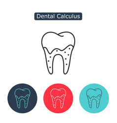 tartar or calculus teeth icon vector image
