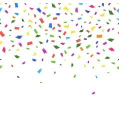 Template vibrant colorful confetti vector