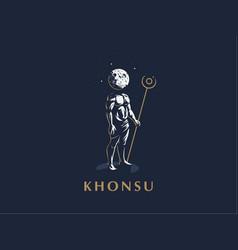 the egyptian god khonsu emblem vector image