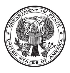 The seal of the state department of the united vector