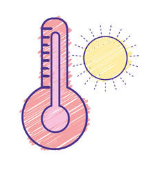 thermometer measure instrument to know the vector image