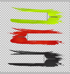 three squeegees window cleaning effects vector image