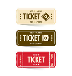 tickets set cinema ticket vector image