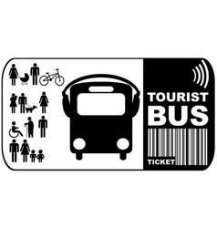 Tourist bus ticket isolated on white background vector