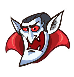 vampire face clip art with simple gradients all vector image