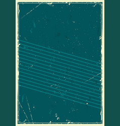 Vintage abstract dark turquoise template vector