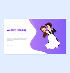 wedding planning bride and groom on first dance vector image