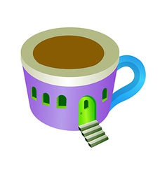 A view of cup vector image vector image
