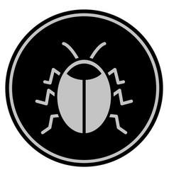 Bug black coin vector