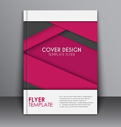 Cover design in the material style vector image vector image