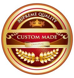 Custom Made Original Label vector image vector image