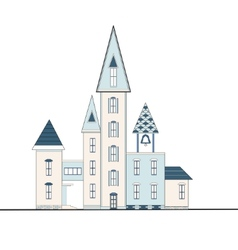 decorative houses with turrets vector image