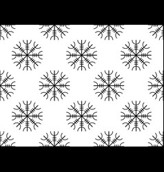 galdrastafir seamless pattern ancient runes vector image