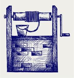 Water well vector image