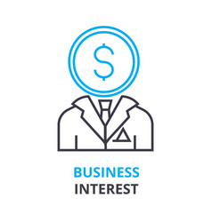 business interest concept outline icon linear vector image