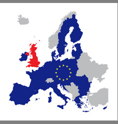 map of europe with european union members vector image