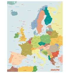 Original map of Europe vector image