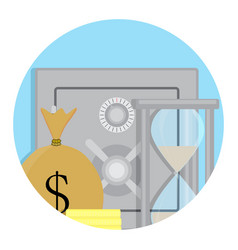 safety deposit box icon vector image