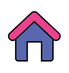 house object with roof and door vector image