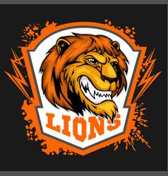 Mascot lions - sport team logo template lion head vector