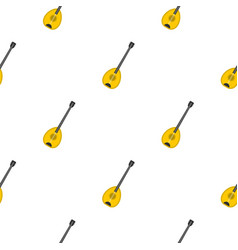 Saz baglama music instrument pattern seamless vector