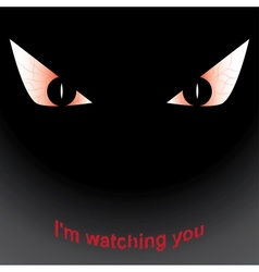 terrible eyes vector image