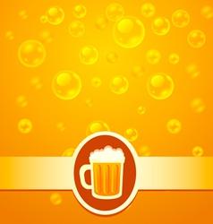Beer bubbles vector image