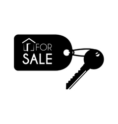Key for sale keychain icon vector