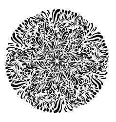 Monochrome black and white lace ornament vector image