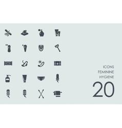 Set of feminine hygiene icons vector image