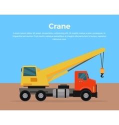Truck Crane Banner Flat Design vector image vector image