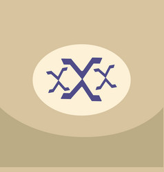 xxx designed using grunge brush on color vector image