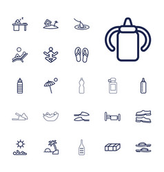 22 relax icons vector