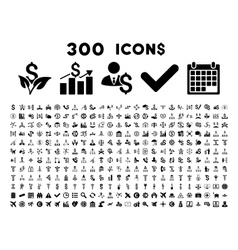 300 Flat Business Icons vector image