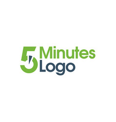 5 minutes logo vector